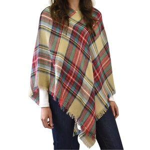 Sweaters - NWT Tartan Plaid Sweater Poncho